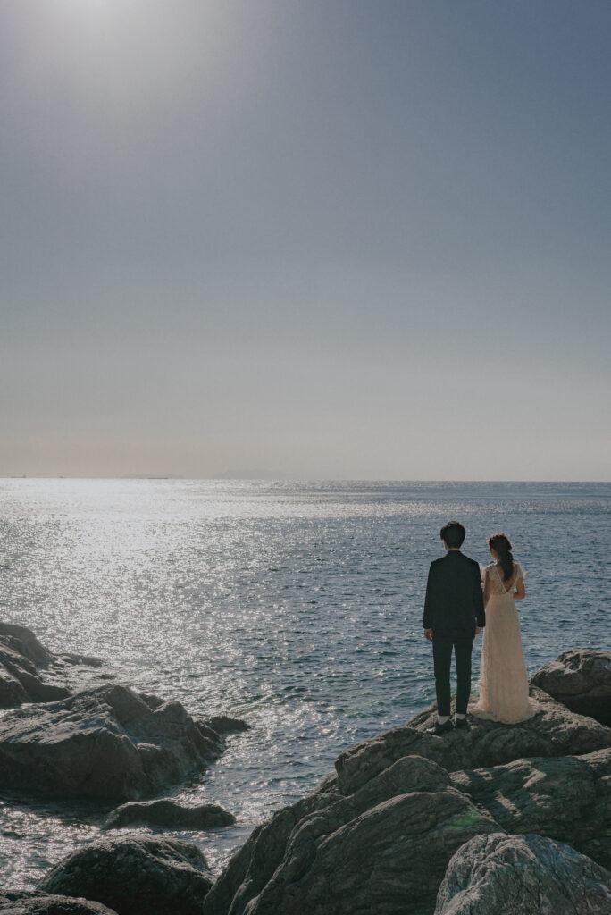 フォトウェディング(結婚式前撮り)おすすめ撮影スポット/白崎海洋公園(和歌山県)