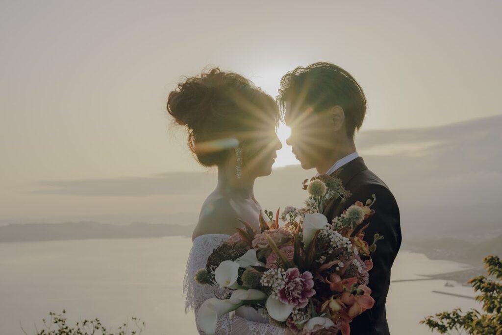 フォトウェディング(結婚式前撮り)岡山県のおすすめ撮影スポット王子が岳(ニコニコ岩)