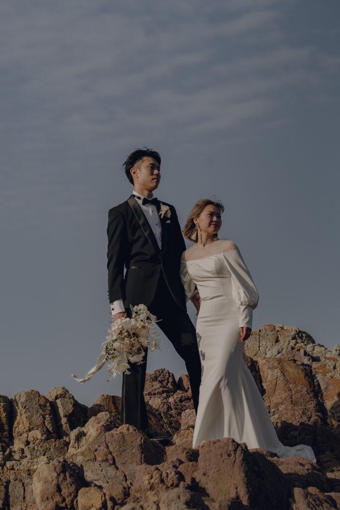 フォトウェディング(結婚式前撮り)鳥取県のおすすめ撮影スポット浦冨海岸